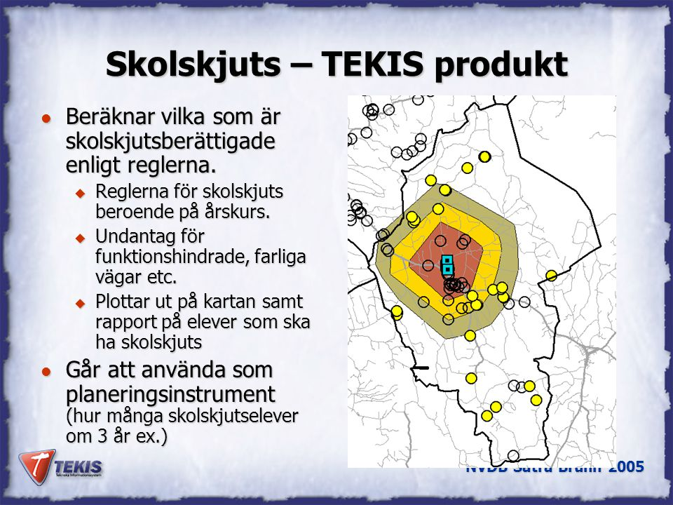 Skolskjuts – TEKIS produkt