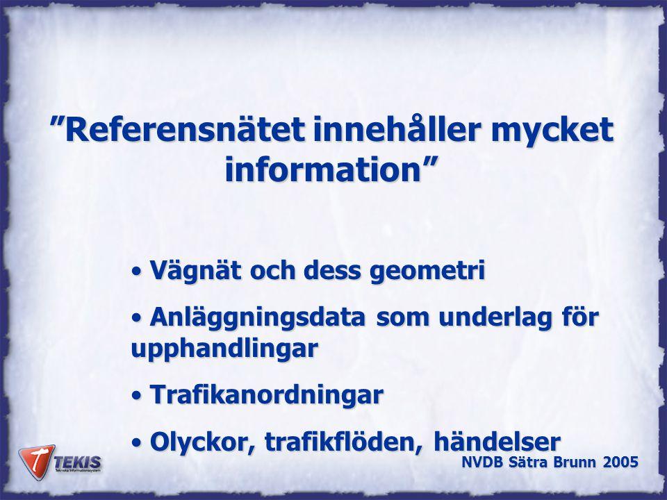 Referensnätet innehåller mycket information