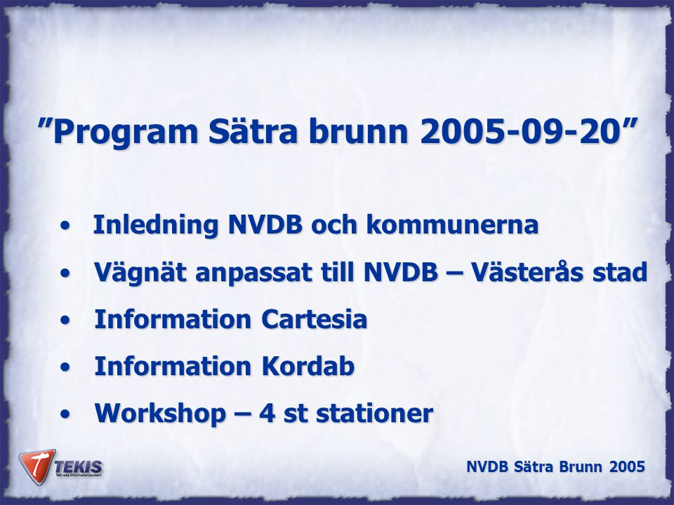 Program Sätra brunn 2005-09-20