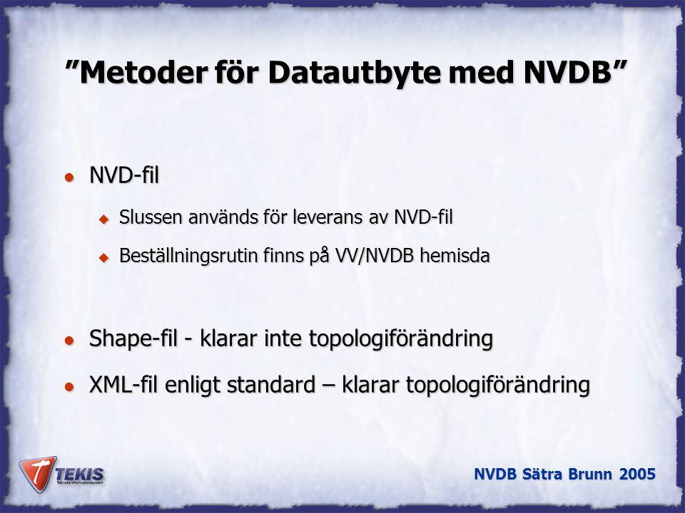 Metoder för Datautbyte med NVDB