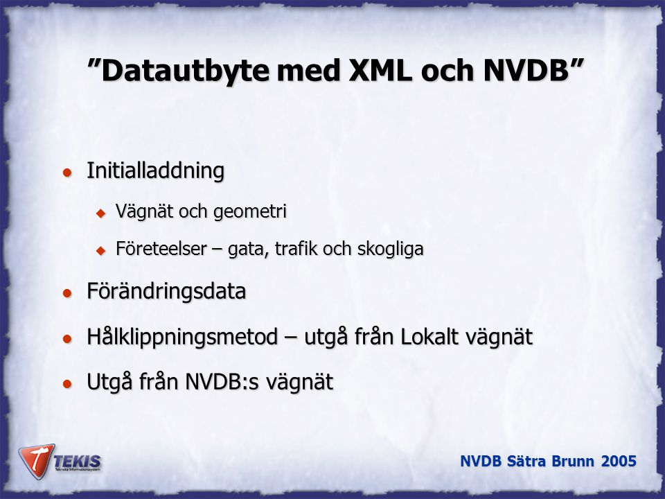 Datautbyte med XML och NVDB