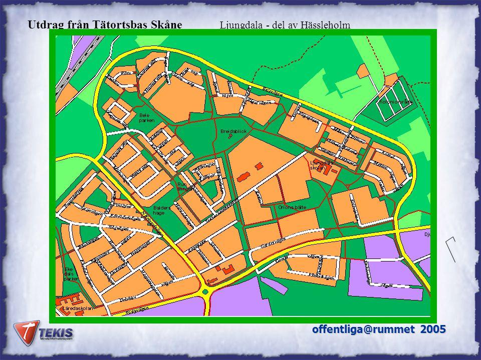 Utdrag från Tätortsbas Skåne Ljungdala - del av Hässleholm