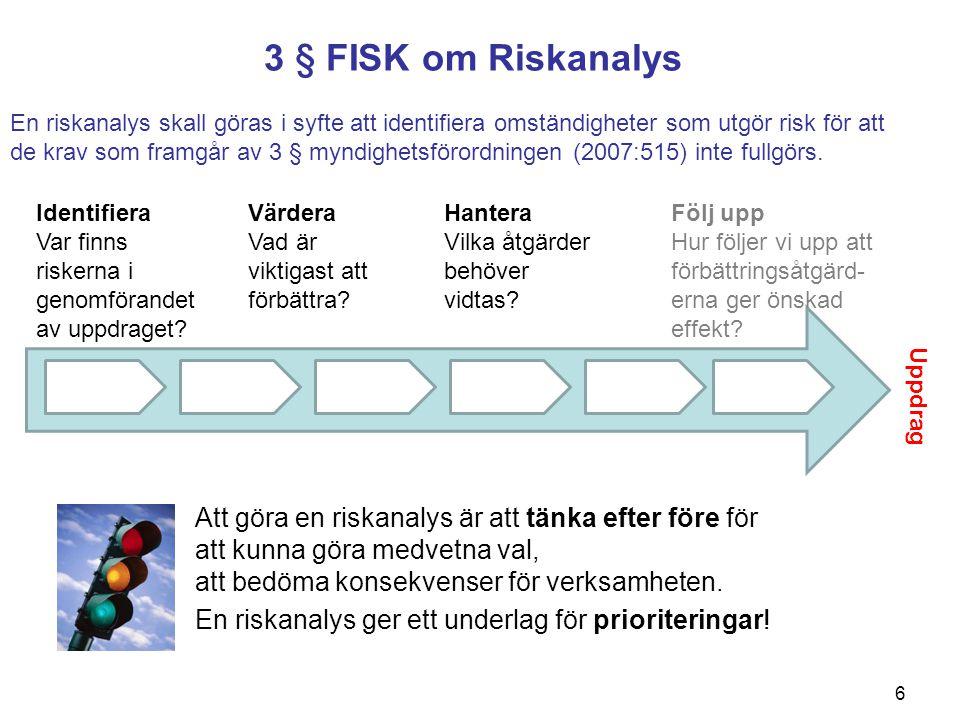 3 § FISK om Riskanalys