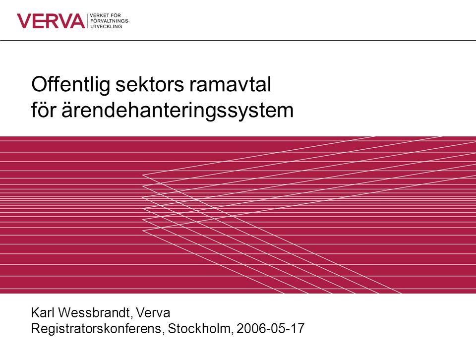 Offentlig sektors ramavtal för ärendehanteringssystem