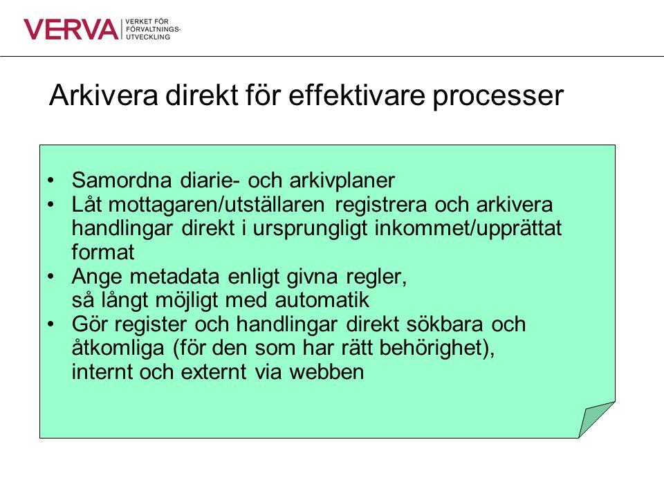 Arkivera direkt för effektivare processer