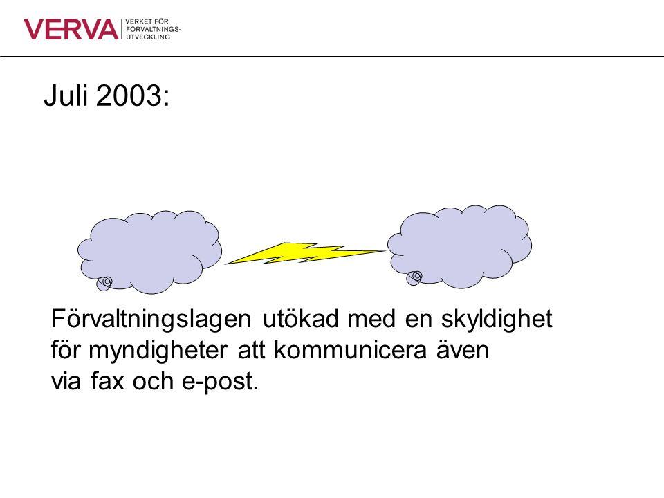 Juli 2003: Förvaltningslagen utökad med en skyldighet