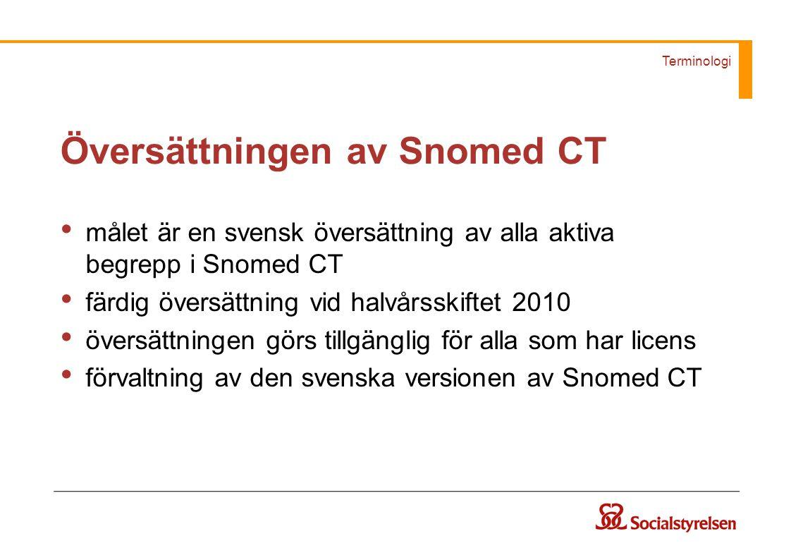 Översättningen av Snomed CT