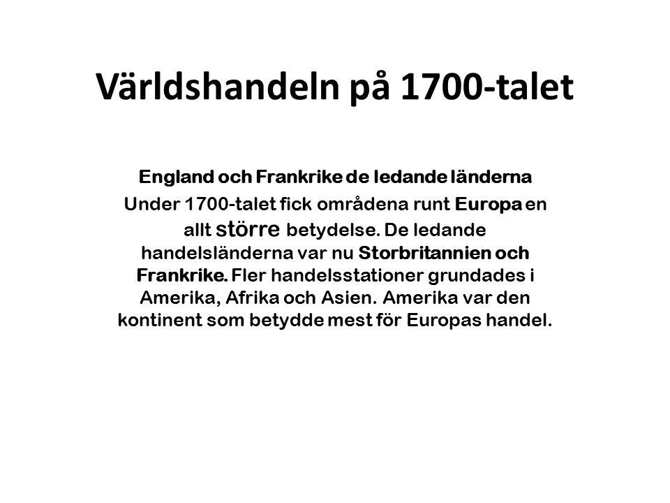 Världshandeln på 1700-talet