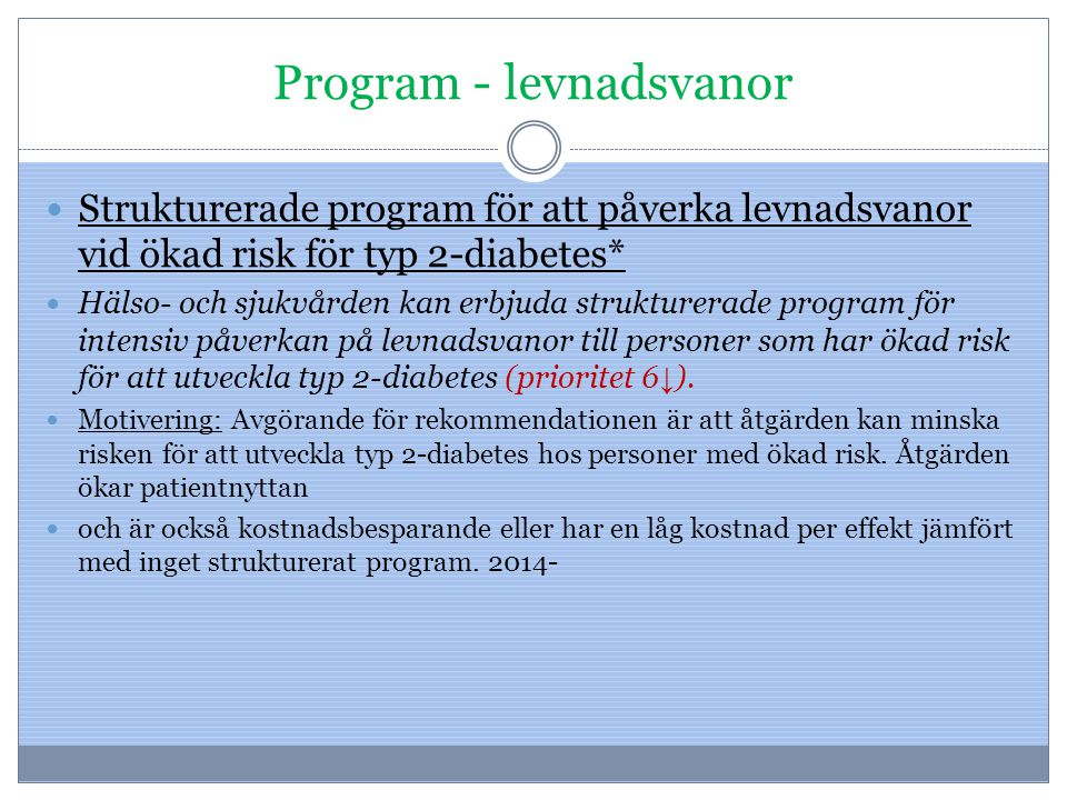 Program - levnadsvanor