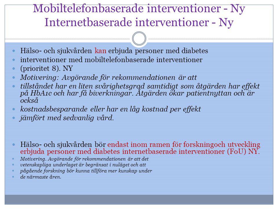 Mobiltelefonbaserade interventioner - Ny Internetbaserade interventioner - Ny