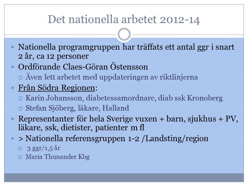 Det nationella arbetet 2012-14
