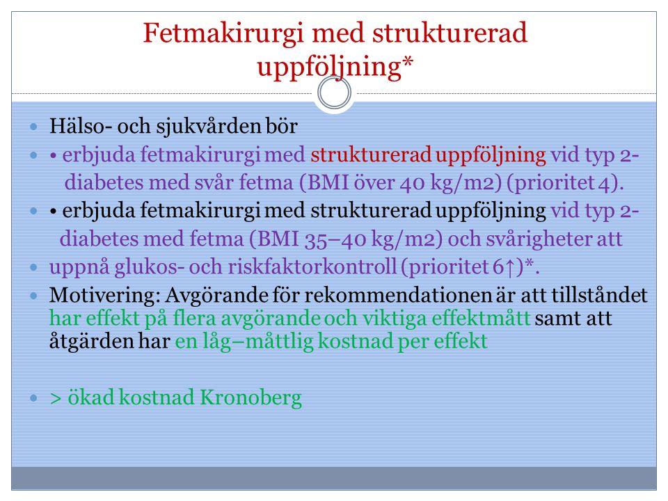Fetmakirurgi med strukturerad uppföljning*