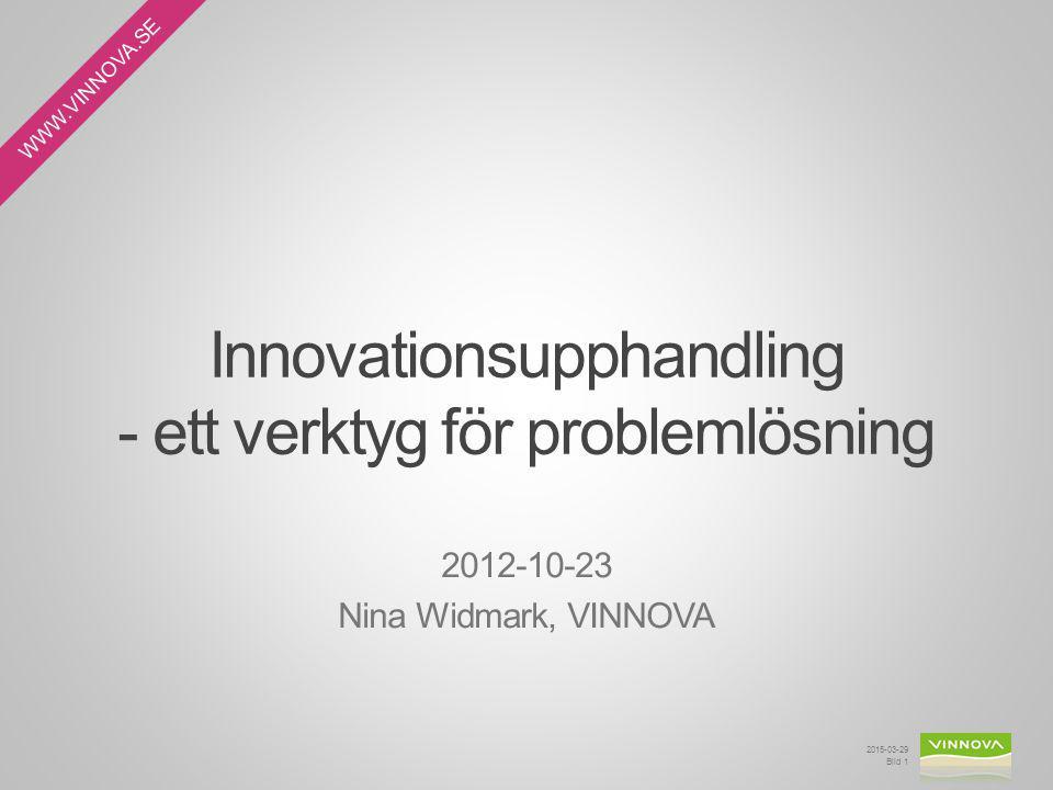 Innovationsupphandling - ett verktyg för problemlösning