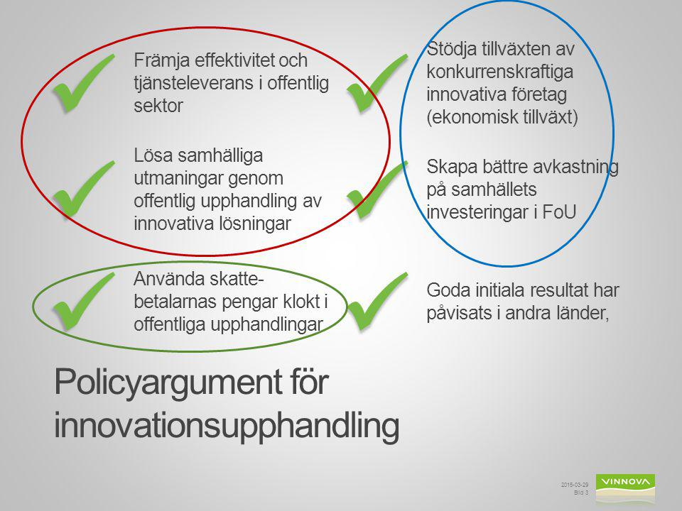 Policyargument för innovationsupphandling