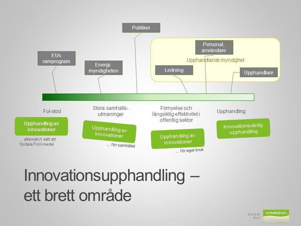 Innovationsupphandling – ett brett område