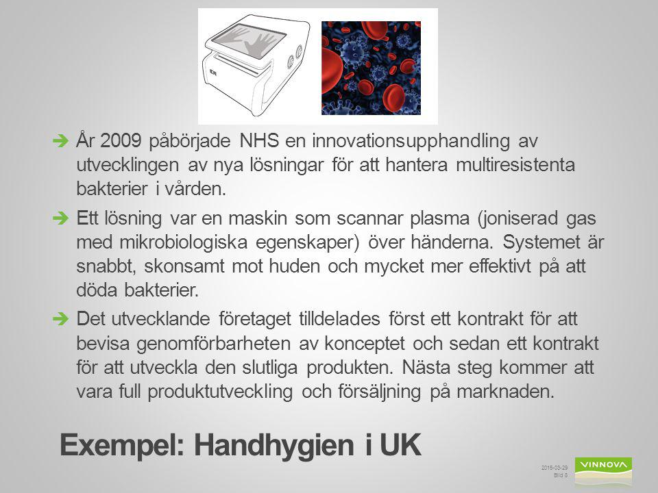 Exempel: Handhygien i UK