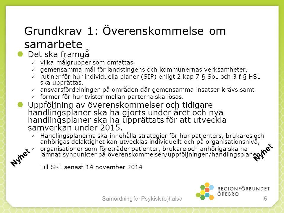 Grundkrav 1: Överenskommelse om samarbete