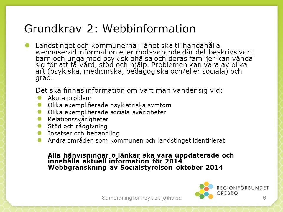 Grundkrav 2: Webbinformation