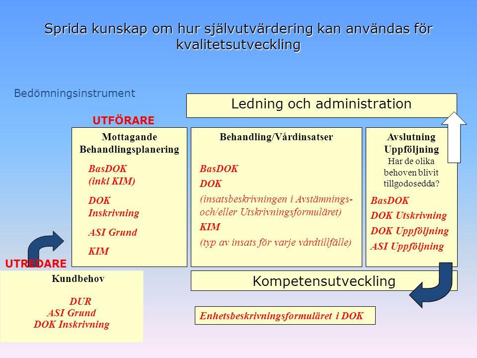 Behandlingsplanering Behandling/Vårdinsatser