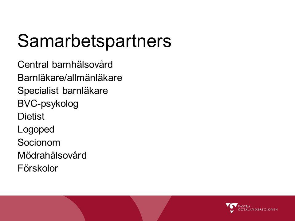 Samarbetspartners Central barnhälsovård Barnläkare/allmänläkare