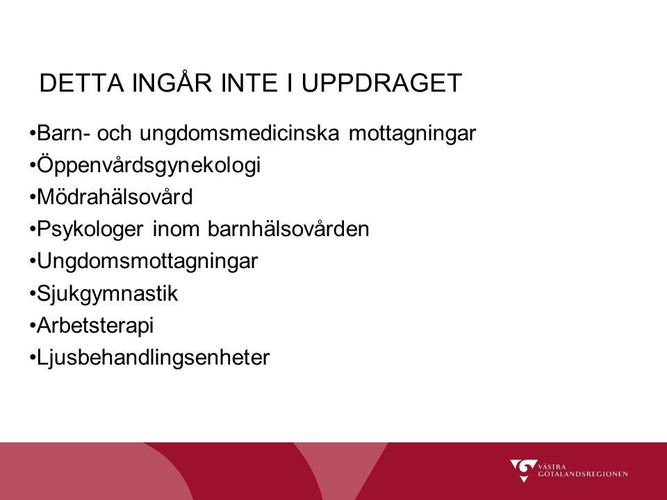 DETTA INGÅR INTE I UPPDRAGET