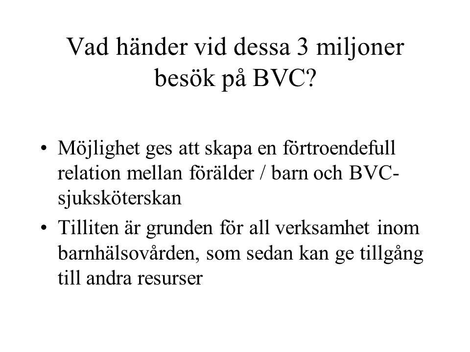 Vad händer vid dessa 3 miljoner besök på BVC
