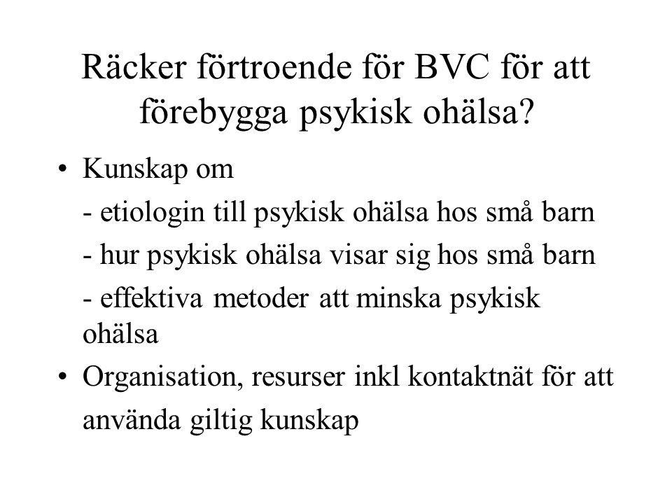 Räcker förtroende för BVC för att förebygga psykisk ohälsa