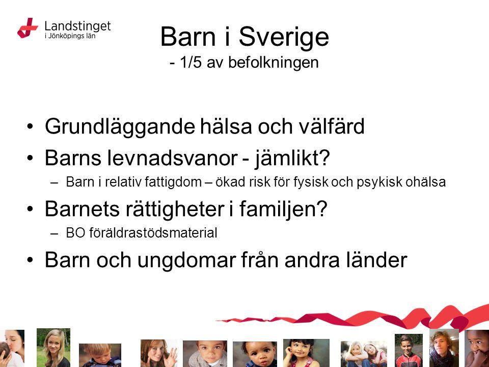 Barn i Sverige - 1/5 av befolkningen