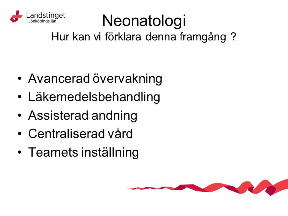 Neonatologi Hur kan vi förklara denna framgång