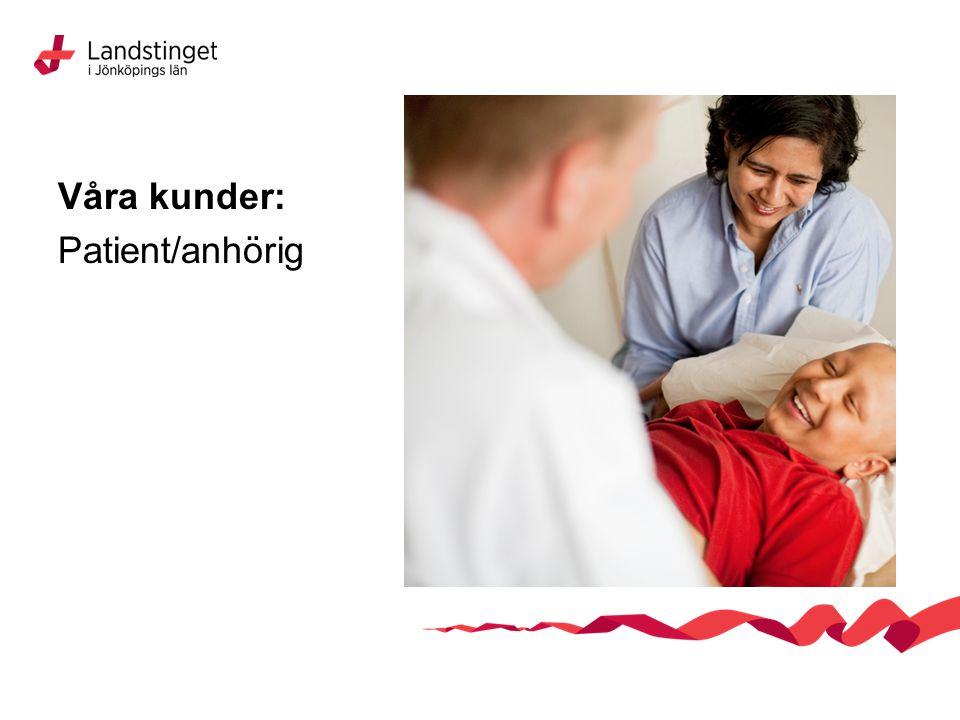 Våra kunder: Patient/anhörig