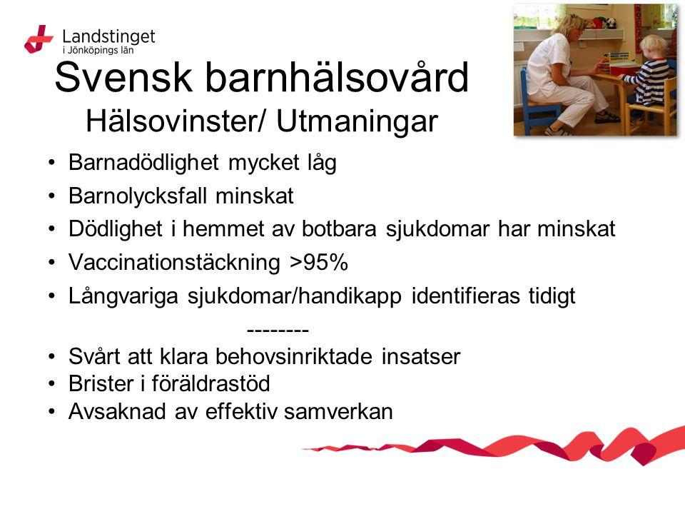 Svensk barnhälsovård Hälsovinster/ Utmaningar