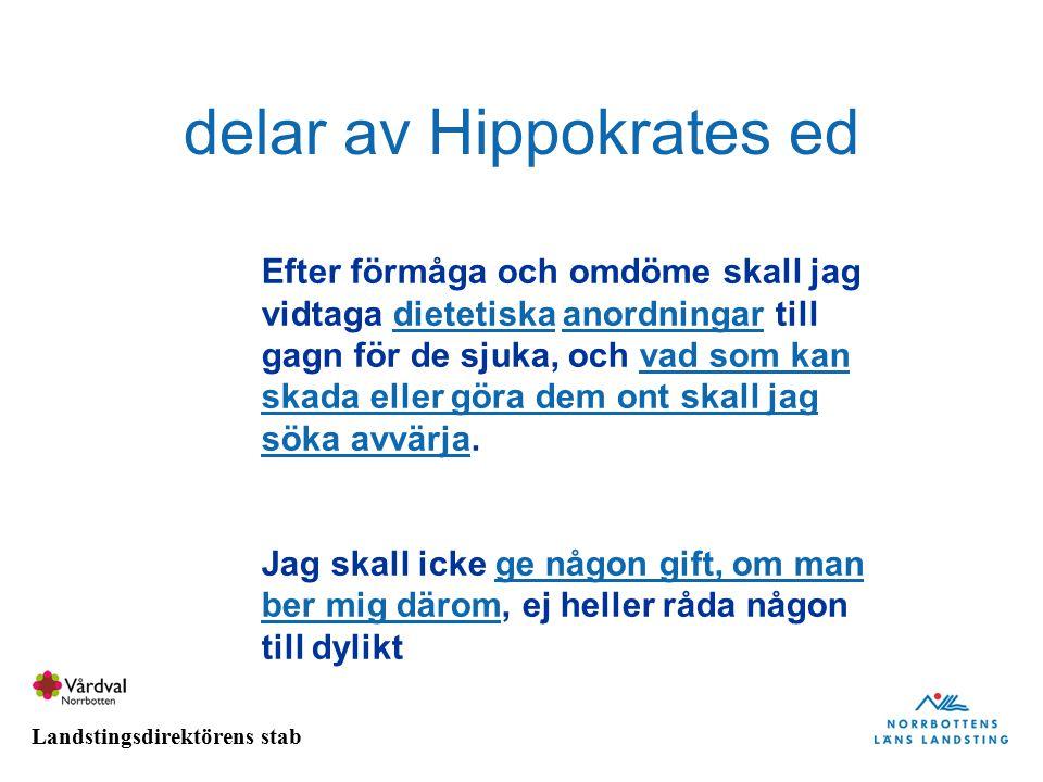 delar av Hippokrates ed