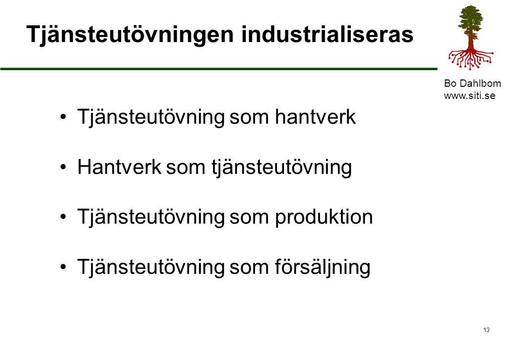 Tjänsteutövningen industrialiseras