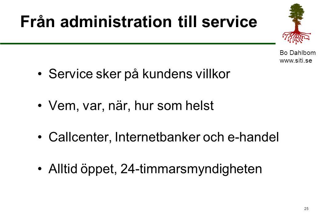 Från administration till service