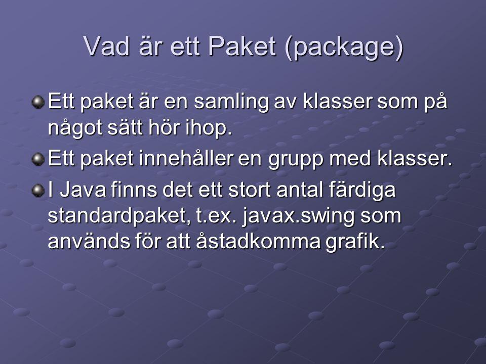 Vad är ett Paket (package)