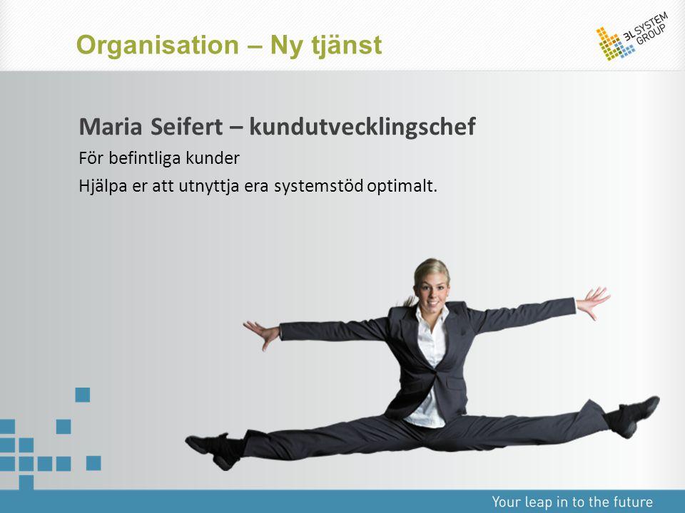 Organisation – Ny tjänst