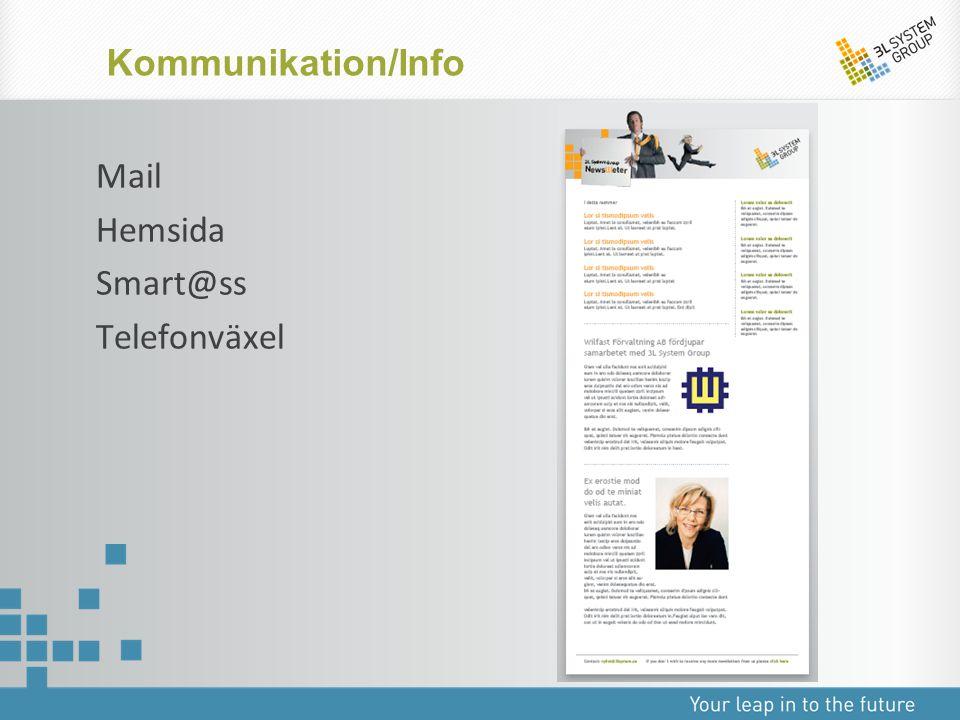 Kommunikation/Info Mail Hemsida Smart@ss Telefonväxel