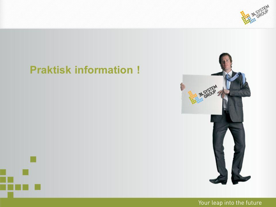 Praktisk information !