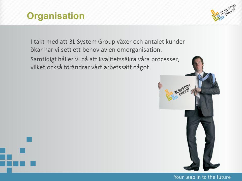 Organisation I takt med att 3L System Group växer och antalet kunder ökar har vi sett ett behov av en omorganisation.