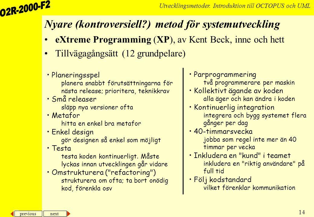 Nyare (kontroversiell ) metod för systemutveckling