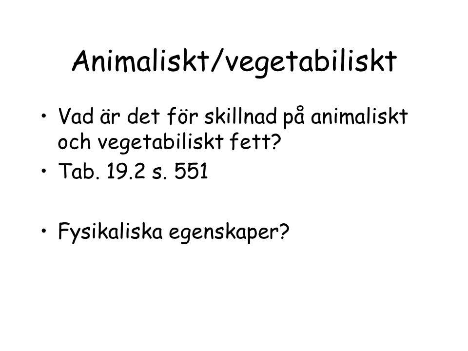 Animaliskt/vegetabiliskt