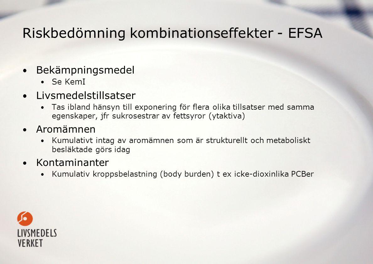 Riskbedömning kombinationseffekter - EFSA