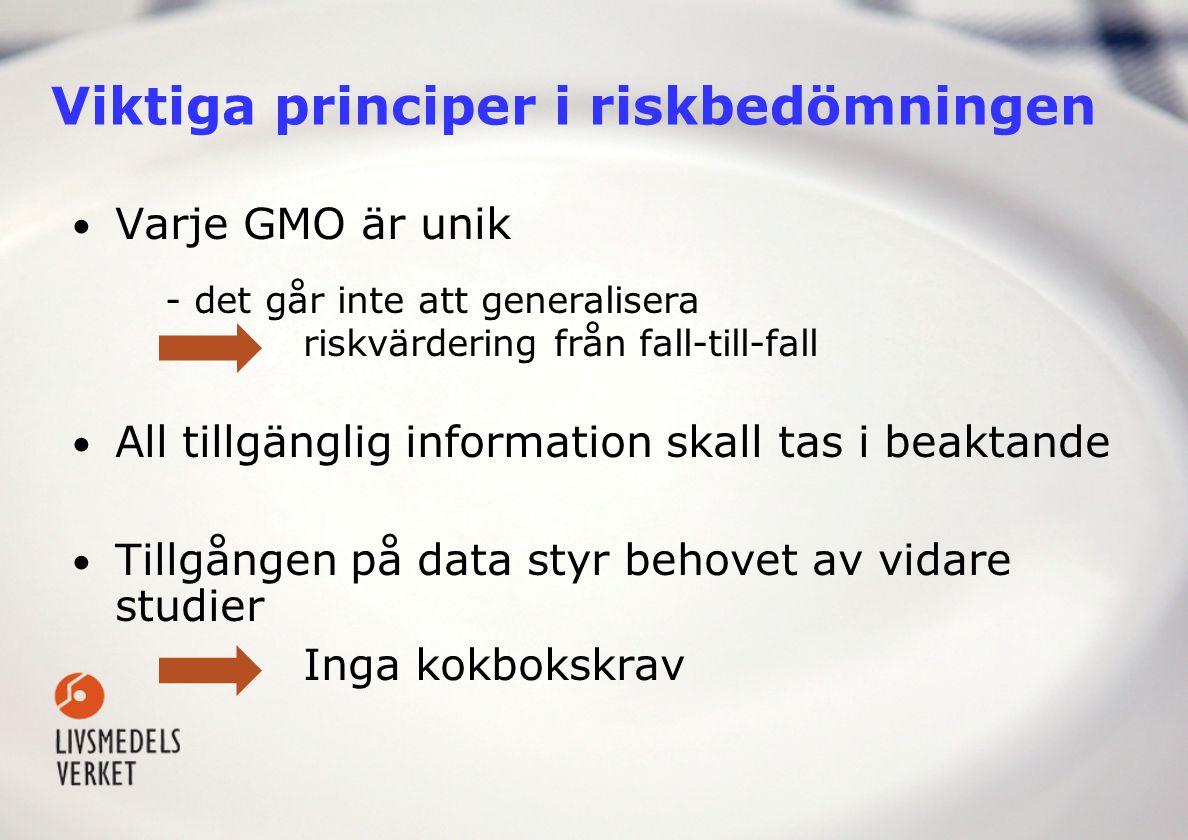 Viktiga principer i riskbedömningen