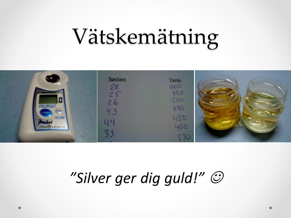 Vätskemätning Silver ger dig guld! 