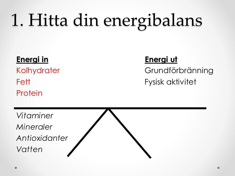 1. Hitta din energibalans