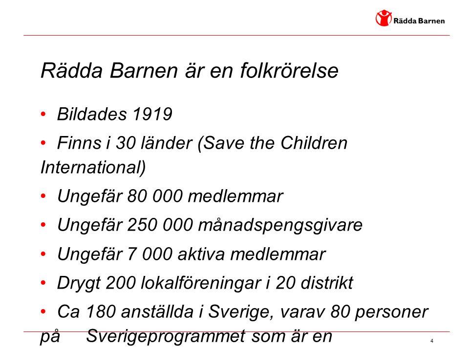 Rädda Barnen är en folkrörelse