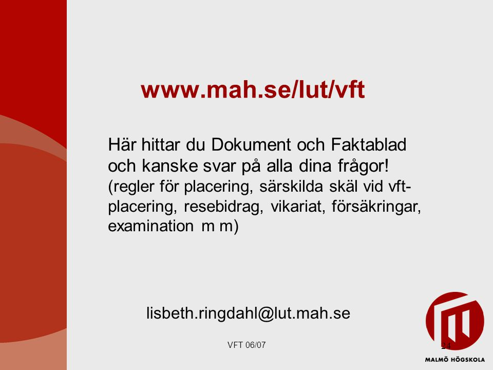 www.mah.se/lut/vft