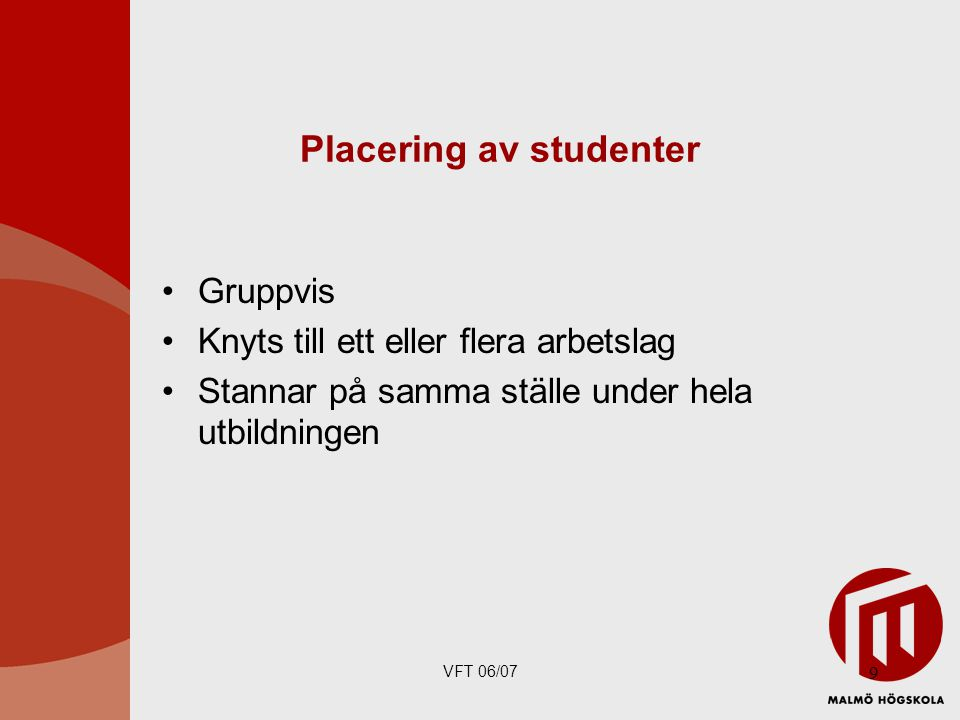 Placering av studenter