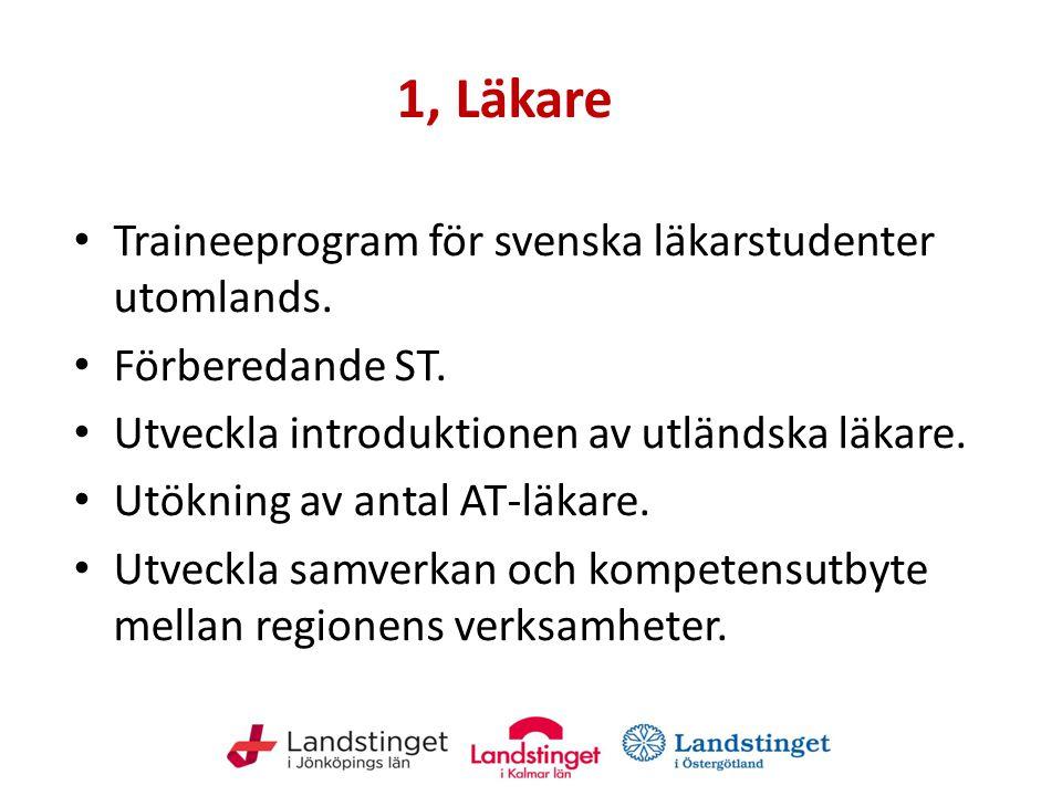 1, Läkare Traineeprogram för svenska läkarstudenter utomlands.