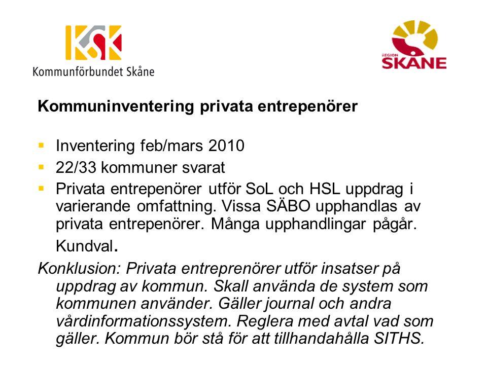 Kommuninventering privata entrepenörer